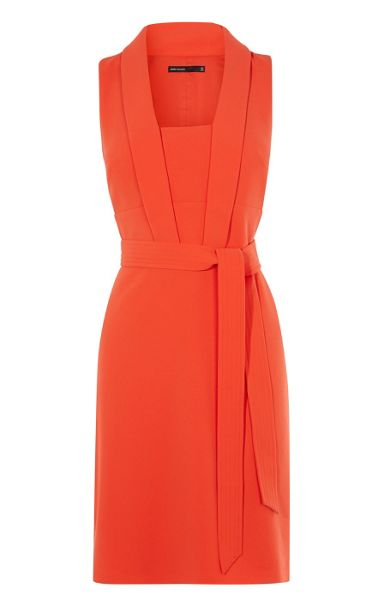 Karen Millen Tie-Belt Dress