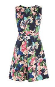 Karen Millen Tropical Floral-Print Cotton Dress