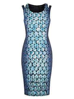 Jewel-Print Pencil Dress