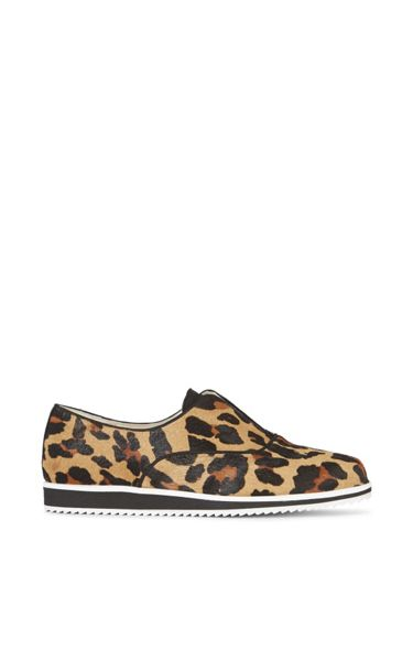 Karen Millen Leopard Slip On Trainer
