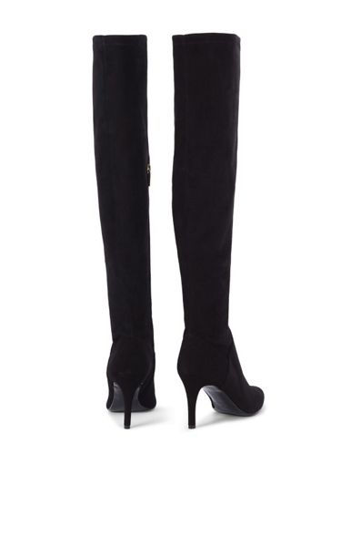 Karen Millen Stretch Suede Knee Boots