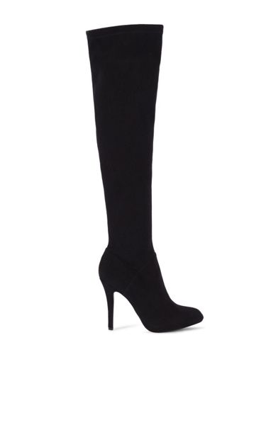 Karen Millen Stretch Suede Over Knee Boots