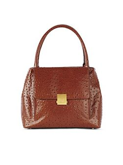 Ostrich Embossed Bag