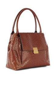 Karen Millen Ostrich Embossed Bag
