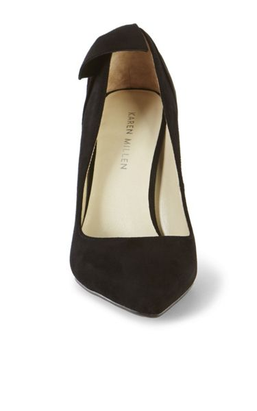 Karen Millen Bow Back Suede Court