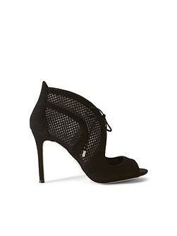 Mesh Lace-Up Heel