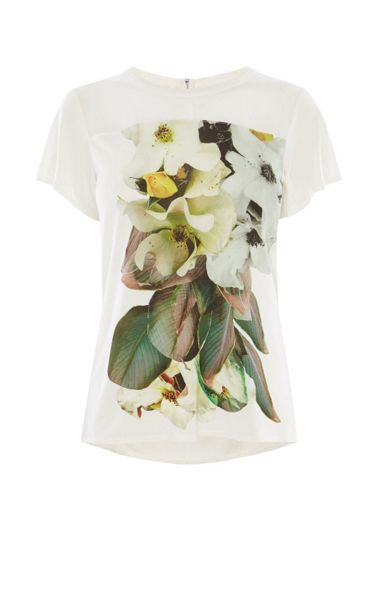 Karen Millen Digital Floral Print Top