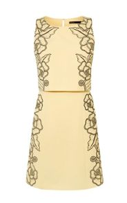 Karen Millen Lace Crop-Detail Dress