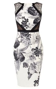 Karen Millen Floral-Print Pencil Dress