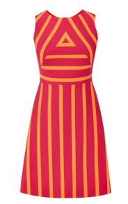 Karen Millen Graphic Block Stripe Dress