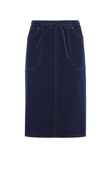Karen Millen Denim A-Line Skirt