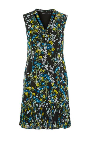 Karen Millen Tie-Neck Floral Dress