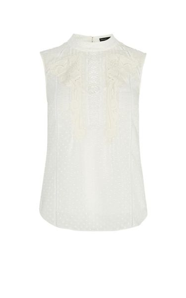 Karen Millen High-Neck Lace Blouse