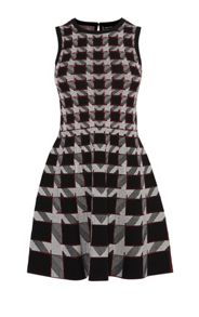 Karen Millen Graphic Houndstooth Dress