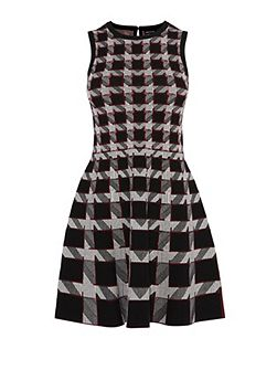 Graphic Houndstooth Dress