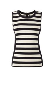 Karen Millen Striped Sleeveless Vest