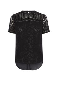 Karen Millen Lace Panel T-Shirt