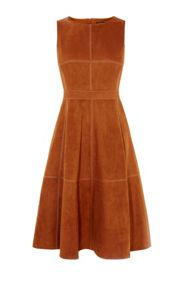 Karen Millen Suede Flared Dress
