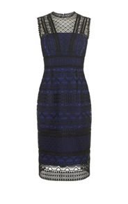 Karen Millen Graphic Lace Pencil Dress
