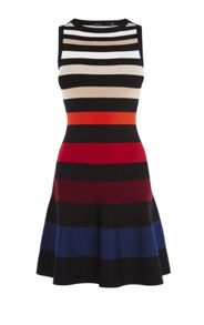 Karen Millen Colour-Stripe Dress