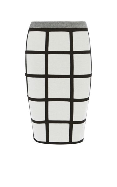 Karen Millen Check Pencil Skirt