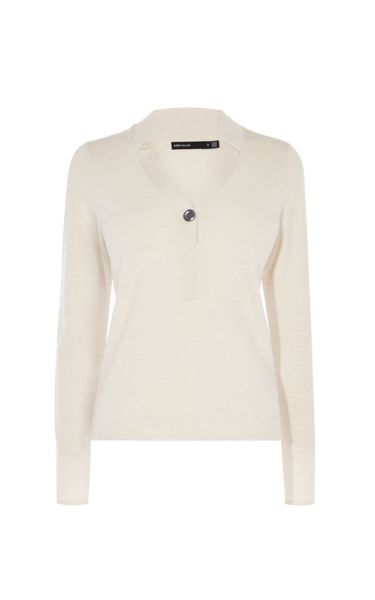 Karen Millen Long-Sleeved Polo Top