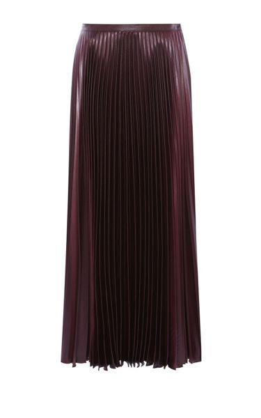 Karen Millen Wetlook Pleat Maxi Skirt