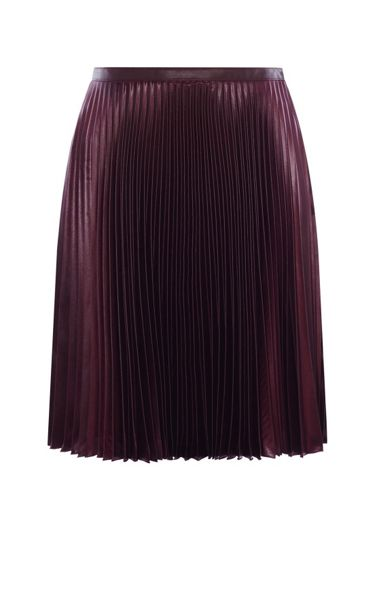 Karen Millen Wetlook Pleat Skirt