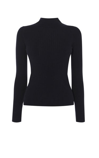 Karen Millen Rib Turtle-Neck Jumper