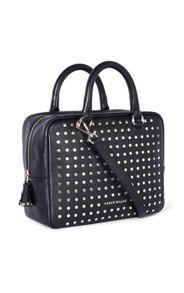 Karen Millen Leather Stud Bowling Bag