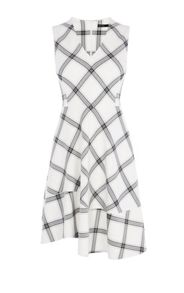 Karen Millen Bias Check Dress