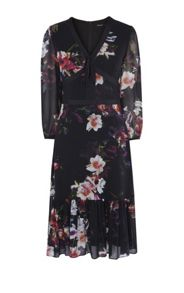 Karen Millen Georgette Orchid Dress