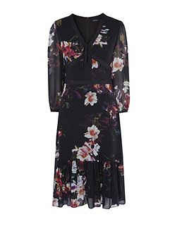 Georgette Orchid Dress