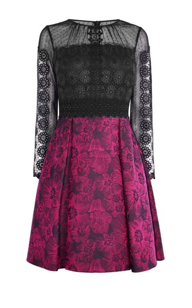 Karen Millen Lace And Jacquard Prom Dress