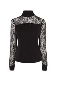 Karen Millen High Neck Lace Top