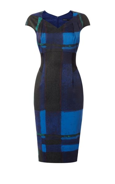 Karen Millen Watercolour Check Dress