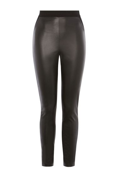 Karen Millen Faux-Leather And Jersey Legging