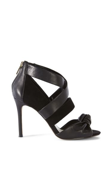 Karen Millen Leather And Suede Sandal