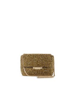 Diamante Foldover Clutch