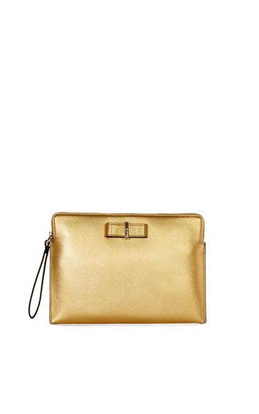 Karen Millen Bow Zip Clutch