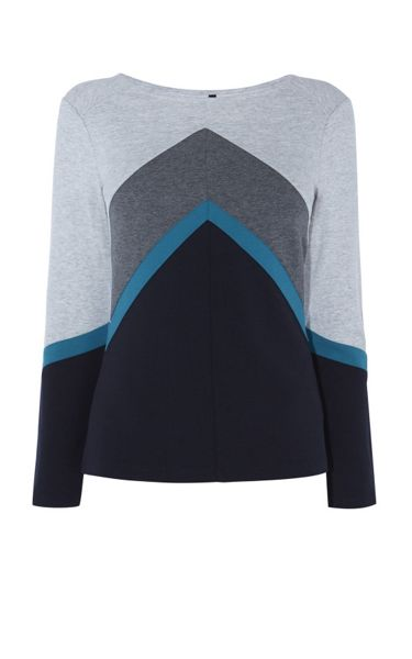 Karen Millen Colour-Block Top