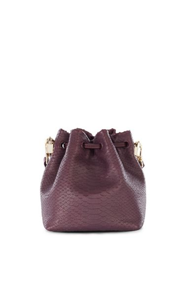Karen Millen Snake Mini Bucket Bag