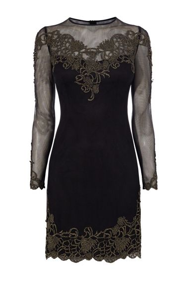 Karen Millen Embroidered Mesh Dress