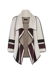 Karen Millen Stripe Wrap Coat