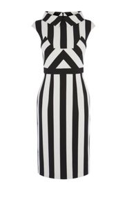 Karen Millen Multi-Stripe Dress