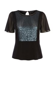 Karen Millen Sequin Panel Tee