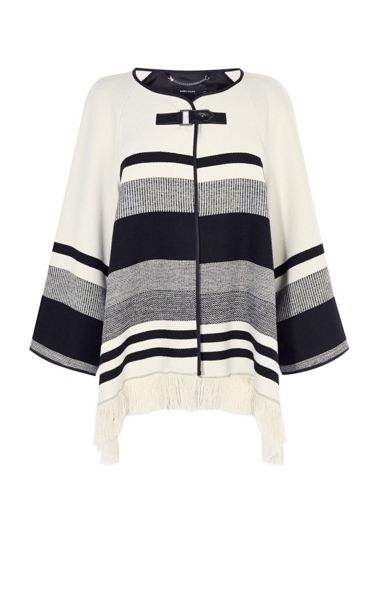 Karen Millen Stripe Cape Coat