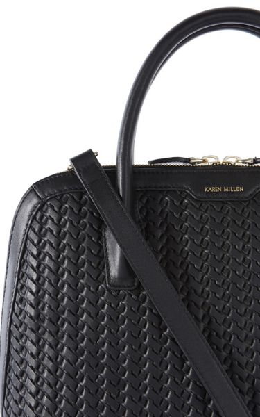 Karen Millen Hand-Woven Leather Bag