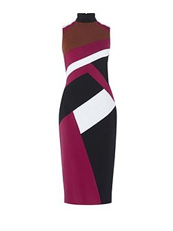 Graphic-Panel Pencil Dress