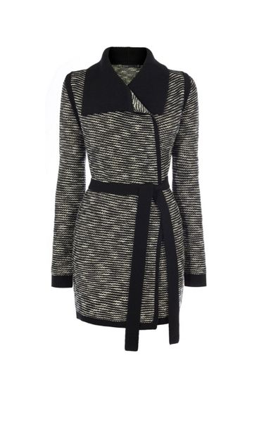 Karen Millen Stripe Tweed Cardigan